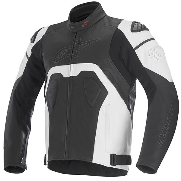 【ジャケット】【alpinestars】 CORE レザージャケット ブラック/ホワイト BLACK/WHITE 黒/白 サイズ:48 アルパインスターズ