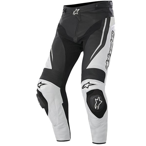 【パンツ】【alpinestars】 TRACK レザーパンツ ブラック/ホワイト BLACK/WHITE 黒/白 サイズ:52 アルパインスターズ