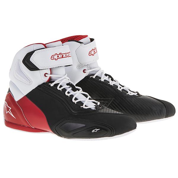 【シューズ】【alpinestars】 FASTER 2 SHOES ブラック/ホワイト/レッド BLACK/WHITE/RED 黒/白/赤 サイズ:9 (26.5cm) アルパインスターズ