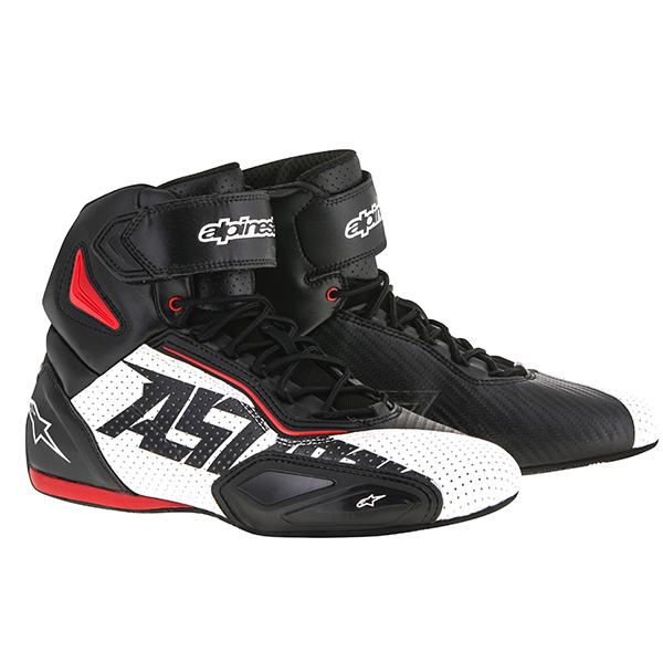 【シューズ】【alpinestars】 FASTER 2 VENTED SHOES ブラック/ホワイト/レッド BLACK/WHITE/RED 黒/白/赤 サイズ:7 (25.0cm) アルパインスターズ