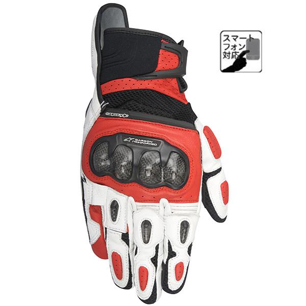 【グローブ】【alpinestars】 SP-X AIR CARBON グローブ ブラック/ホワイト/レッド BLACK/WHITE/RED 黒/白/赤 XXLサイズ アルパインスターズ