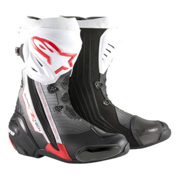 【ブーツ】【alpinestars】 SUPERTECH-R BOOT 0015 ブラック/レッド/ホワイト 黒/赤/白 BLACK/RED/WHITE 41 (26.0cm) アルパインスターズ aスター エースター