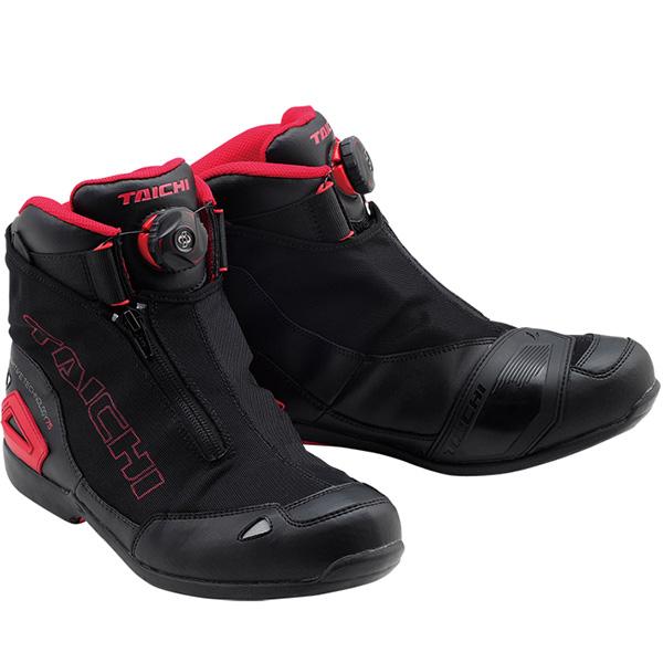 【シューズ】RS TAICHI RSS008 BOA WRAP AIR RIDING SHOES ブラック/レッド 黒/赤 BLACK/RED 23.0cm ライディング靴 AIRシューズ