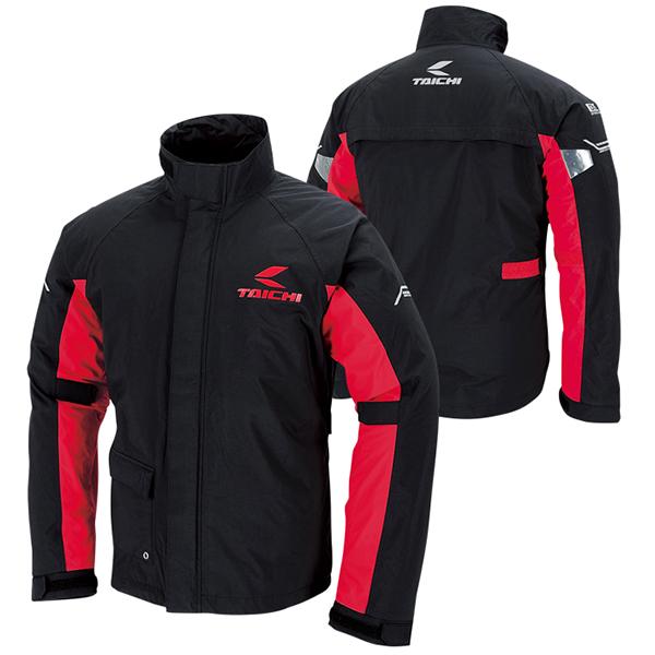 【レインウェア】【上下セット】【RS TAICHI】 RSR045 ドライマスター レインスーツ black/red ブラック/レッド 黒/赤 4XLサイズ 収納バッグ付属 アールエスタイチ DRYMASTER RAIN SUITS 雨具 カッパ