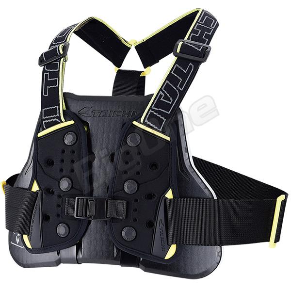 【プロテクター】【RS TAICHI】 TRV064 テクセル チェストプロテクター (ベルトタイプ) 胸部用 BLACK/YELLOW ブラック/イエロー 黒/黄 メンズ 男性用 men's アールエスタイチ TECCEL CHEST PROTECTOR
