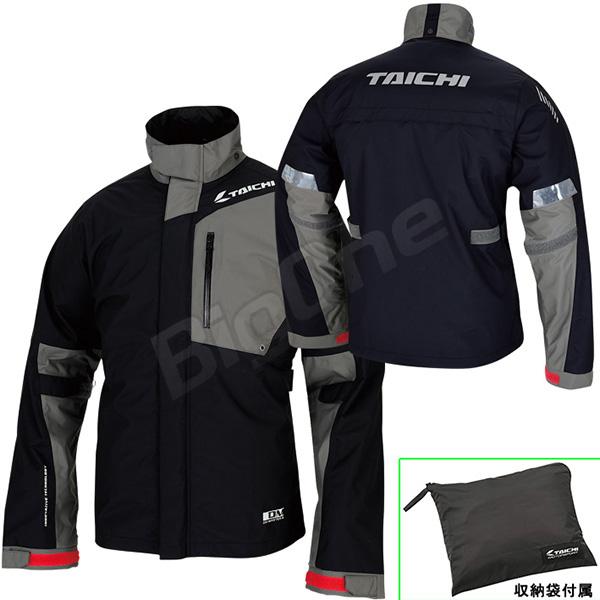 【レインウェア】【上下セット】【RS TAICHI】RSR043 DRYMASTER-X レインスーツ BLACK ブラック 黒 Lサイズ 収納バッグ付属 ドライマスターX RAIN SUITS アールエスタイチ