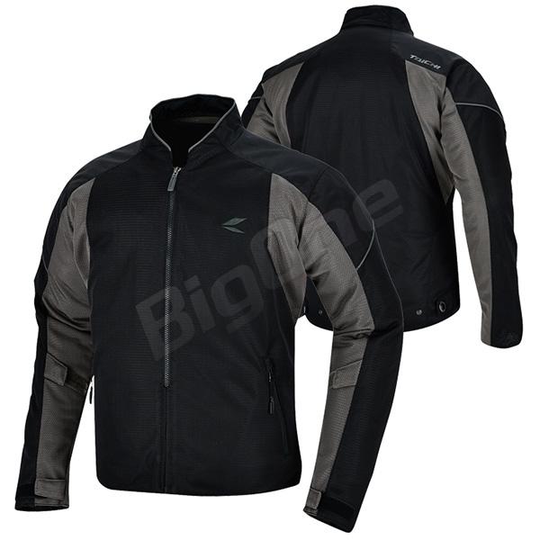 【ジャケット】【RS TAICHI】RSJ317 クルー メッシュ ジャケット XXLサイズ ブラック/グレー 黒/灰色 BLACK/GRAY アールエスタイチ CREW MESH JACKET