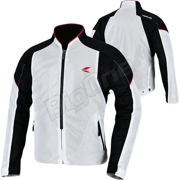 【ジャケット】【RS TAICHI】RSJ317 クルー メッシュ ジャケット Lサイズ ホワイト/ブラック 白/黒 WHITE/BLACK アールエスタイチ CREW MESH JACKET