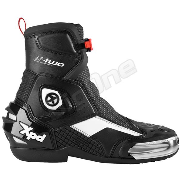【ブーツ】【Xpd】 XPN021 X-TWO レーシングブーツ BLACK/WHITE ブラック/ホワイト 黒/白 25.5cm (41) エックスピーディー RACING BOOT シューズ SHOES