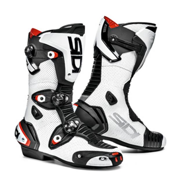 【BOOTS】【SHOES】【シディ】MAG-1パンチングレザー採用モデル 【ブーツ】【SIDI】MAG-1 AIR 26.5cm (EUR:42) ホワイト/ブラック WHITE/BLACK 白/黒 シディ マグ1 エアー マグワン BOOTS レーシングブーツ 靴 シューズ