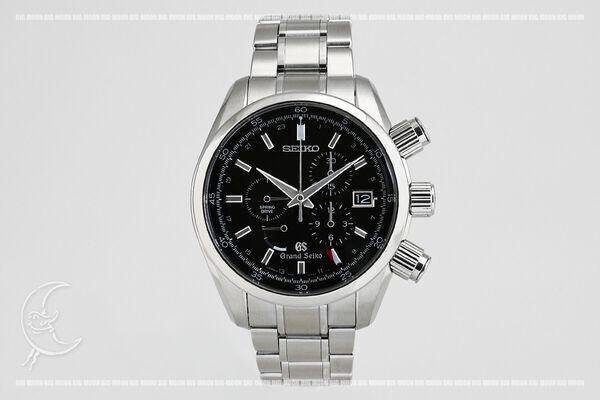 セイコー グランドセイコー 9Rスプリングドライブ クロノグラフ SBGC003 NEW売り切れる前に☆ ブラック メーカー公式 SEIKO メンズ 腕時計 SS 中古 送料無料