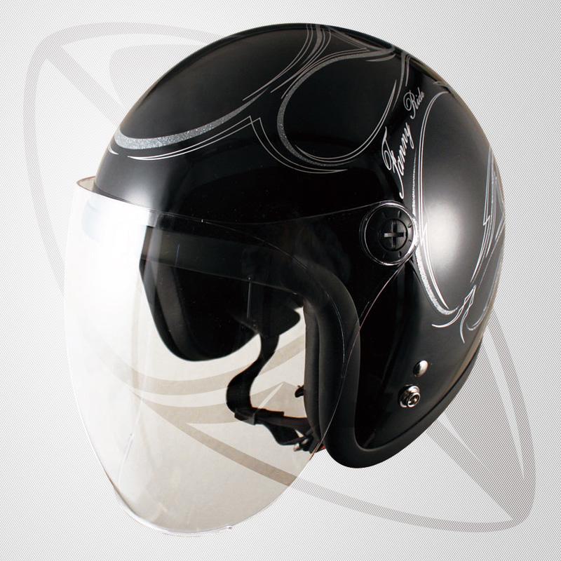 送料無料!【SG規格認定】【全排気量OK】ジェット型ヘルメット ブラック/シルバー ラメ ファイヤー(bjl65sr)ジェットヘル ファイアーパターン