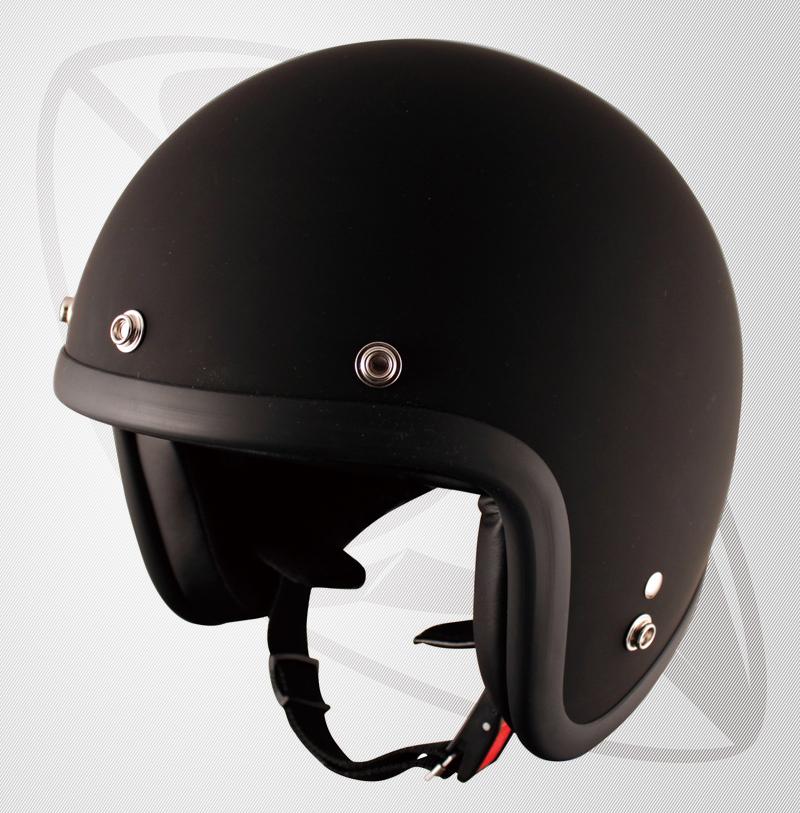 ジェット型ヘルメット Design color Mad Black マッドブラック(艶消しの黒)(bjl-65)スモールジェットヘル SG規格認定 全排気量OK フリー/LFサイズ