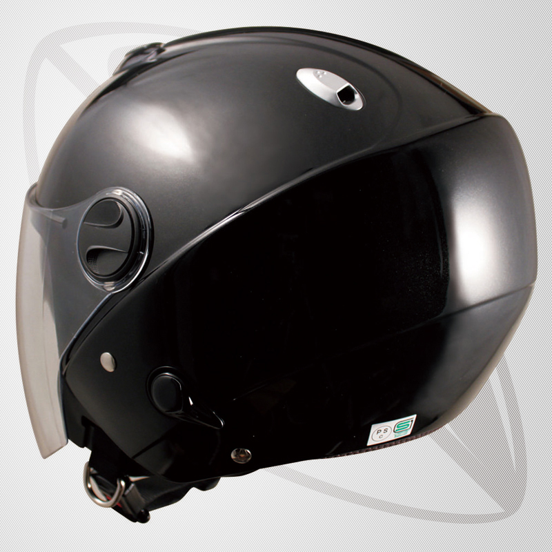 Small Jet her mad black (bzj3) Jet type helmet