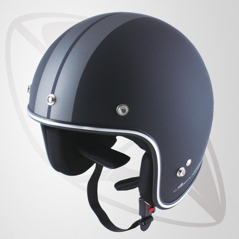 送料無料!【SG規格認定】【全排気量OK】Bigサイズ コンパクトなフォルム ジェット型ヘルメット マッドブラック/ガンメタ(BJS-65GXa)スモールジェットヘル