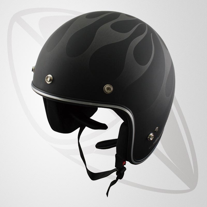 送料無料!【SG規格認定】【全排気量OK】Bigサイズ コンパクトなフォルム ジェット型ヘルメット マッドブラック/ガンメタ FIRE(BJS-65GXa)スモールジェットヘル