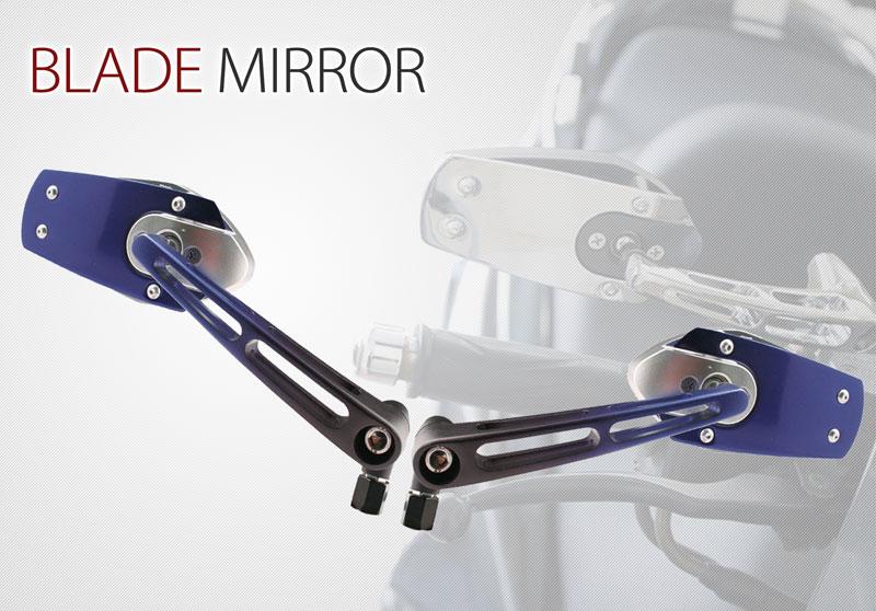 バイクミラー BLADE MIRROR ブレードミラー スポーティーフォルム 左右セット バイク用ミラー