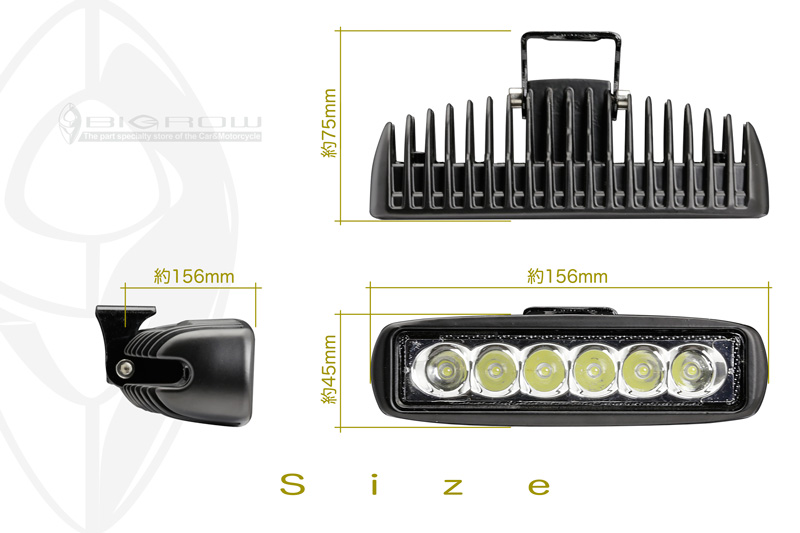6 LED Work Lamp High Intensity! Compact! Mini LED Lamp (fog Lamps And  Driving Lamps) Daylight, Working Lights, Auxiliary Lights