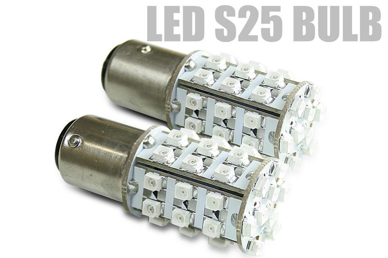 39個のSMD LEDが全方位に強烈照射 毎週更新 LED S25 ウェッジ球 39SMD 送料無料 シングルorダブル 訳あり 超高輝度LED ホワイト S25型ブレーキランプ球と交換可能