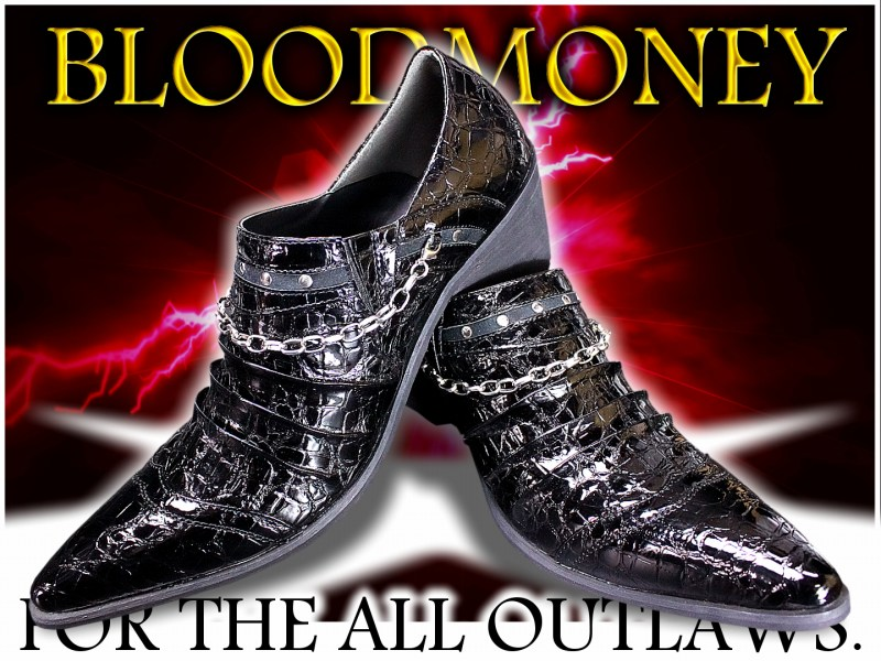 48 black and new height 6 cmUP! Val brand BLOOD MONEY evil evil Luo Luo system chain & stadsenamelcrocosecretboot/meaning brother series has shoes host drescherzyakuzaloafer Yakuza Choi evil ITA waloraola series soul Japan mens boots
