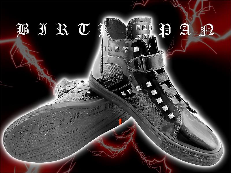 Sneaker belted black!! men's sex series evil-evil Luo system brother system host meting sex evil-evil-088 shoes glitz