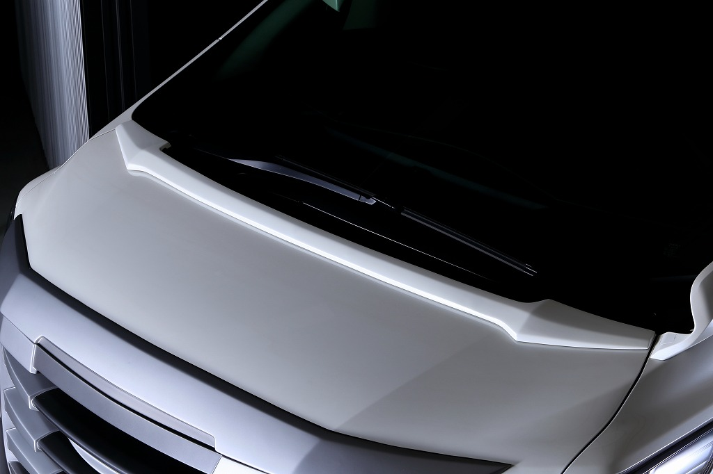 【GALAXYNEO】30系 ALPHARD ボンネットスポイラー単色塗装