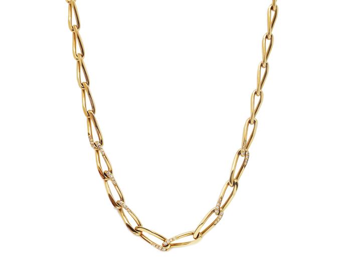 カルティエ ダイヤ ネックレス 750(K18イエローゴールド)xダイヤモンド レディース 【送料、代引手数料無料】 ◆ 【中古】