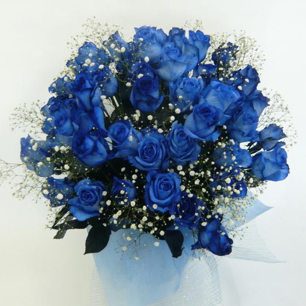 バラのアレンジメント/ブルーローズ【結婚祝い 花】【誕生日 花】ブルーローズのアレンジメント