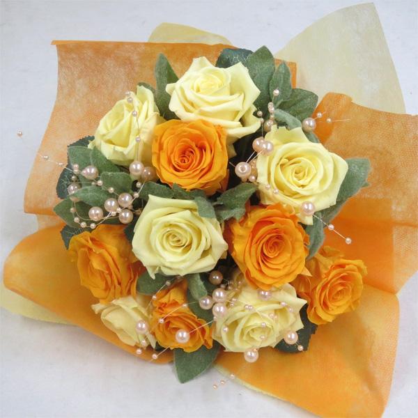 【プリザーブドフラワー 花束】モーニングイエロー花束 【プリザーブド・フラワー】【誕生日の花】【結婚の御祝い】【プロポーズの花】【退職祝い 花】