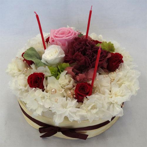 プリザーブドフラワー/フラワーケーキ/ストロベリー・ショートケーキ 【ケーキフラワー】【プリザーブド・フラワー】【smtb-tk】【楽ギフ_メッセ】【楽ギフ_メッセ入力】