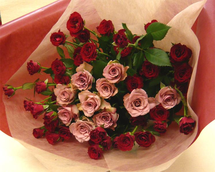 【バラの花束】ハロウィンと赤バラのブーケ【誕生日花】【クリスマスギフト花】【記念日 花】