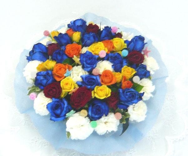 【ブルローズ】 キャンディーポップ【クール便でお届け!】【青いバラ】【誕生日】【結婚祝い】【ブルーローズ】