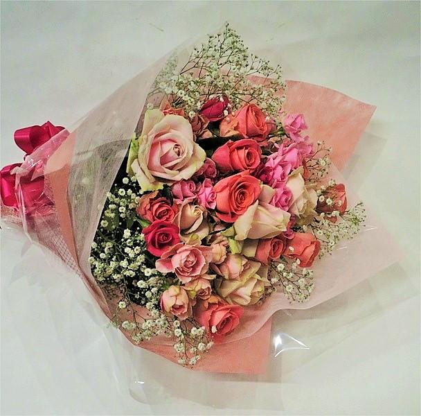 バラの花束/ピンクローズブーケ