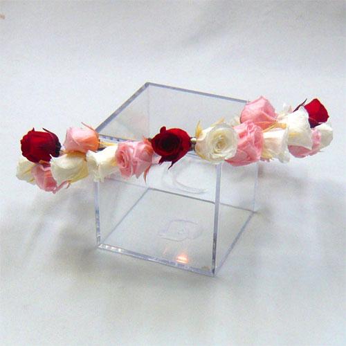 ヘッド花 花冠 白&ピンク&レッド【ヘッドドレス】