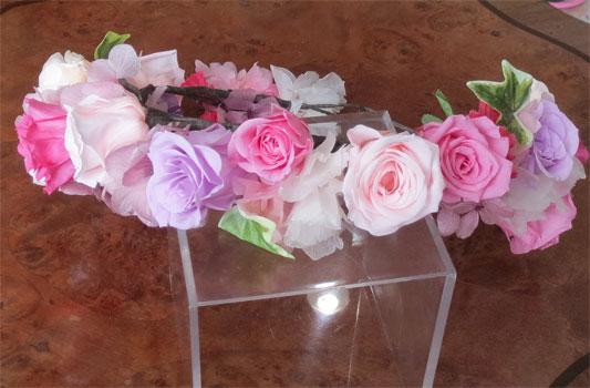 花冠 プリザーブドフラワー ご注文を頂いたブーケに合わせお作り【ヘッドドレス】