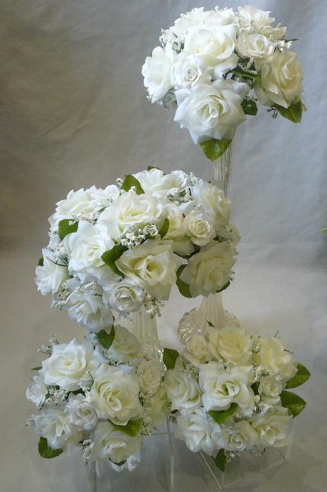 造花ブライダルブーケ ミニブーケ 安い プルズブーケ ウエディングブーケ トスブーケ セールSALE%OFF ブライダルブーケ 5個セット ホワイト