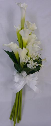 ウエディングブーケ/ブライダルブーケ/カラーと小花のクラッチ ブーケ 【bouqet】【smtb-tk】