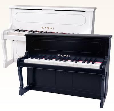 お子様のプレゼントにオススメ!KAWAI・カワイ / ミニアップライトピアノ ホワイト 1152 (32鍵)