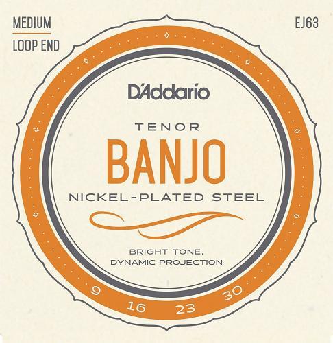 海外並行輸入正規品 明るくスタンダードなトーンと快適な演奏性 D'Addario ダダリオ バンジョー用弦 格安SALEスタート EJ63 9-30 Nickel Plated Banjo Tenor