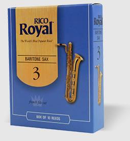 送料無料・在庫処分・セール品!RICO リコ / RICO ROYAL バリトンサックス リード 3 (リコ ロイヤル)