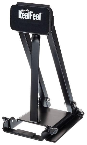 【ドラム練習グッズ】 EVANS・エヴァンス / RFBASS RealFeel ドラムキックペダル練習パッド ツインペダル対応