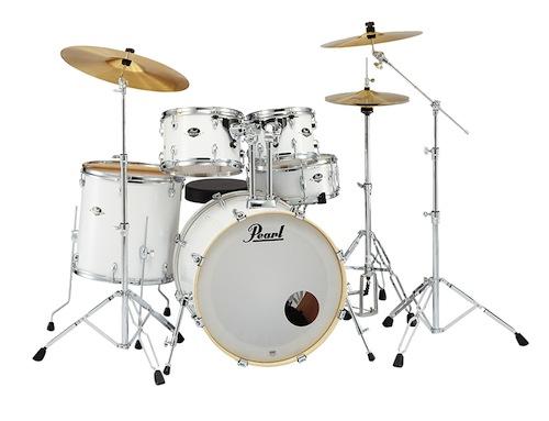送料無料!Pearl パール / EXX Covering EXX725S/C シンバル付ドラムフルセット (スタンダードサイズ) #33 Pure White【smtb-tk】