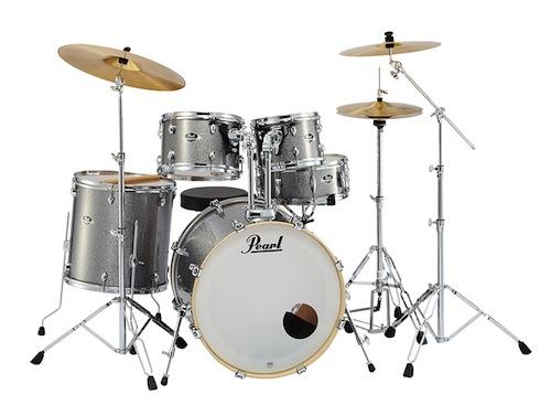 送料無料!Pearl パール / EXX Covering EXX725S/C シンバル付ドラムフルセット (スタンダードサイズ) #708 Grindstone Sparkle【smtb-tk】