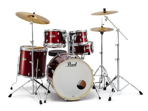 送料無料!Pearl パール / EXX Covering EXX725S/C シンバル付ドラムフルセット (スタンダードサイズ) #760 Burgundy【smtb-tk】