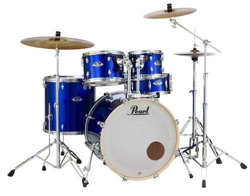 送料無料!Pearl パール / EXX Covering EXX725S/C シンバル付ドラムフルセット (スタンダードサイズ) #717High Voltage Blue【smtb-tk】