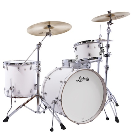 Ludwig ラディック / L24023TX3T NeuSonic Series ニューソニックシリーズ / BD20, FT14, TT12, Tom Clamp / Aspen White Finish【smtb-tk】