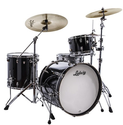 Ludwig ラディック / L24023TXCG NeuSonic Series ニューソニックシリーズ / BD20, FT14, TT12, Tom Clamp / Black Finish【smtb-tk】