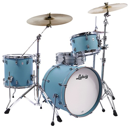 Ludwig ラディック / L24023TX3R NeuSonic Series ニューソニックシリーズ / BD20, FT14, TT12, Tom Clamp / Skyline Blue Finish【smtb-tk】