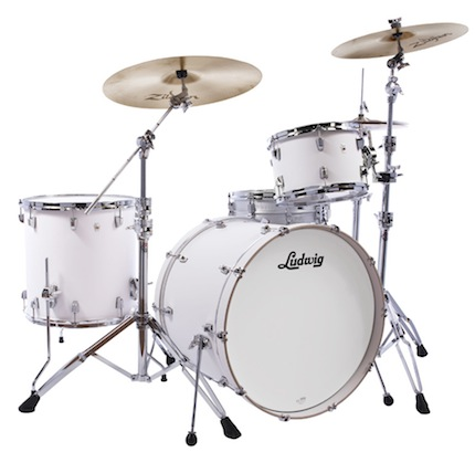 Ludwig ラディック / L26223TX3T NeuSonic Series ニューソニックシリーズ / BD22, FT16, TT12, Tom Clamp / Aspen White Finish【smtb-tk】