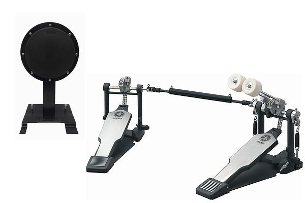 YAMAHA・ヤマハ / ドラムキックペダル練習セット (TS01B + DFP8500C) ツインペダル